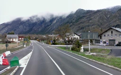 start Alpe Huez bij bord