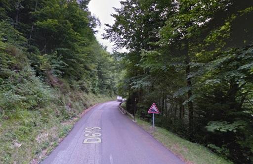Uitermate linke/steile afdaling van de Portet d'Aspet.